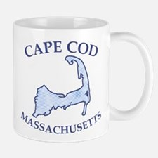 Preppy Vintage Blue Cape Cod Mug
