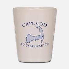 Preppy Vintage Blue Cape Cod Shot Glass