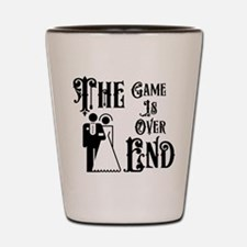 Game Over Getting Married Shot Glass