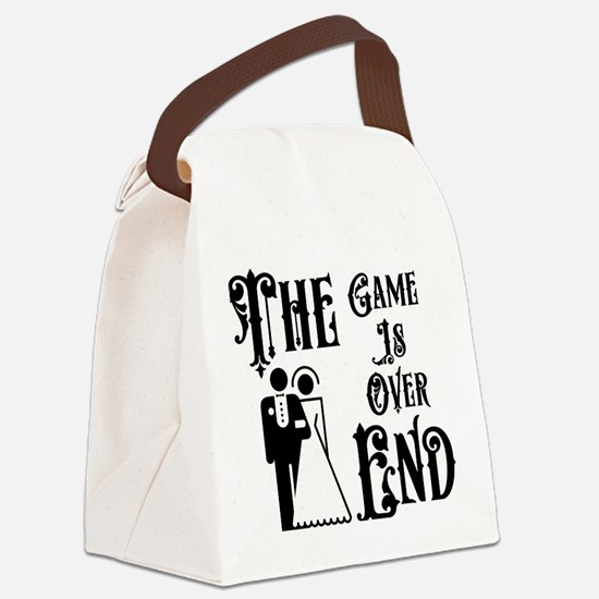 Game Over Getting Married Canvas Lunch Bag