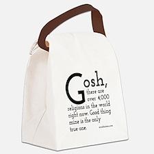 Unique Atheism Canvas Lunch Bag
