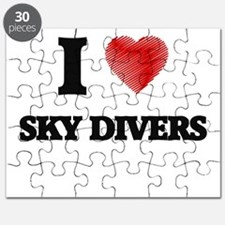 I love Sky Divers Puzzle