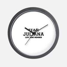 Team JULIANA, life time member Wall Clock