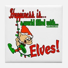 Happiness is an Elf Tile Coaster