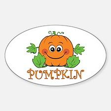 Pumpkin Oval Decal