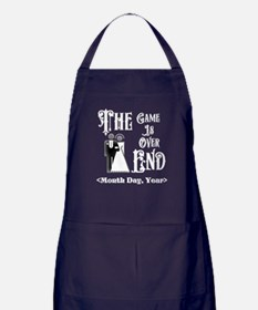 Game Over Getting Married Personalize Apron (dark)