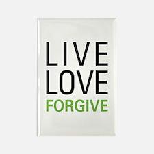 Live Love Forgive Rectangle Magnet