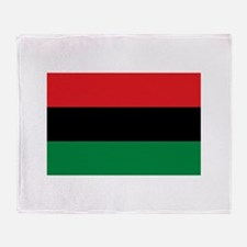 African American Flag - Red Black an Throw Blanket