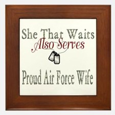 proud air force wife Framed Tile