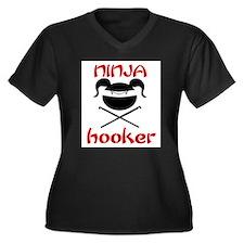 ninja hooker (crochet) Women's Plus Size V-Neck Da
