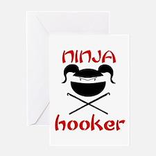 ninja hooker (crochet) Greeting Card