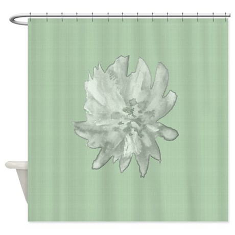 Watercolor Flower On Linen Shower Curtain By SimpleFavorites