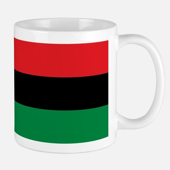 African American Flag - Red Black and Green Mugs