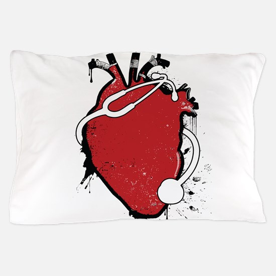 anatomical stethoscope Pillow Case