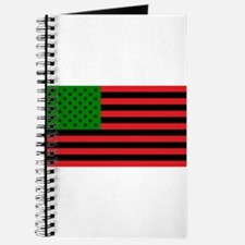 African American Flag - Red Black and Gree Journal