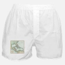 Vintage Map of The Caribbean (1803) Boxer Shorts