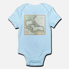 Vintage Map of The Caribbean (1803) Body Suit