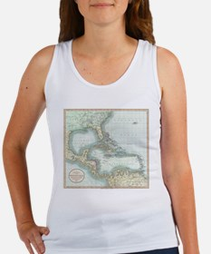 Vintage Map of The Caribbean (1803) Tank Top