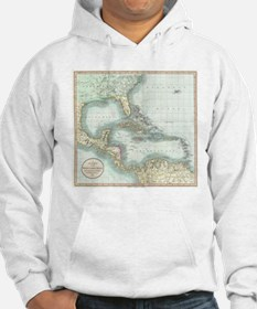 Vintage Map of The Caribbean (18 Hoodie