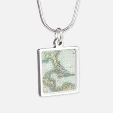 Vintage Map of The Caribbean (1803) Necklaces