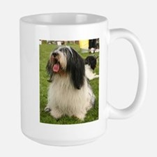 polish lowland sheepdog sitting Mugs