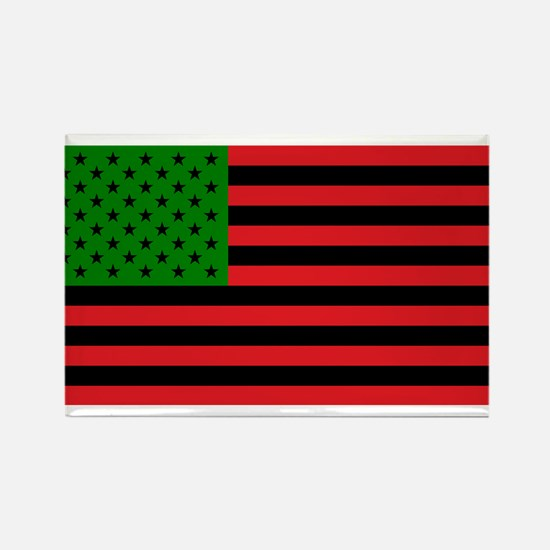 African American Flag - Red Black and Gree Magnets