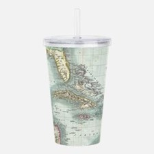Vintage Map of The Car Acrylic Double-wall Tumbler