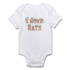 I Love Rats Infant Bodysuit