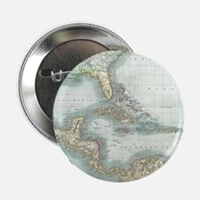 """Vintage Map of The Caribbe 2.25"""" Button (100 pack)"""