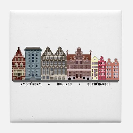 Amsterdam Netherlands Tile Coaster