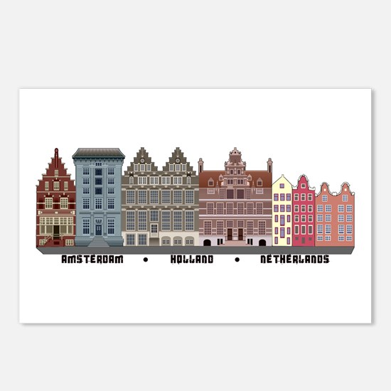 Amsterdam Netherlands Postcards (Package of 8)