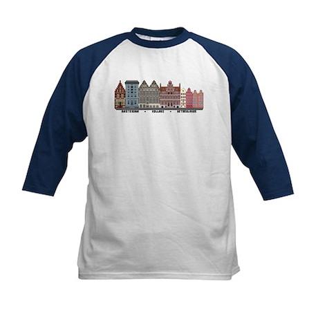 Amsterdam Netherlands Kids Baseball Jersey
