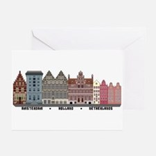 Amsterdam Netherlands Greeting Cards (Pk of 10)