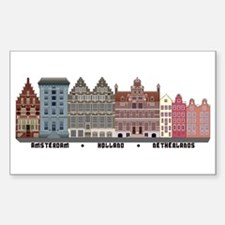 Amsterdam Netherlands Stickers