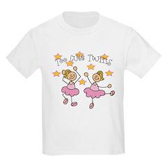 Too Cute Twin Ballarinas T-Shirt