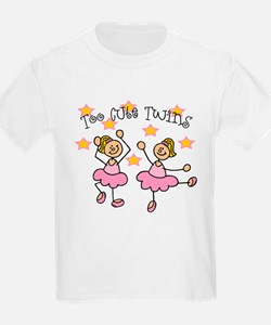 Too Cute Twin Ballarinas T-Shirt
