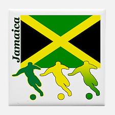 Jamaica Soccer Tile Coaster
