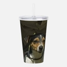 parson russell terrier Acrylic Double-wall Tumbler
