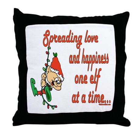 Spreading Love Elves Throw Pillow