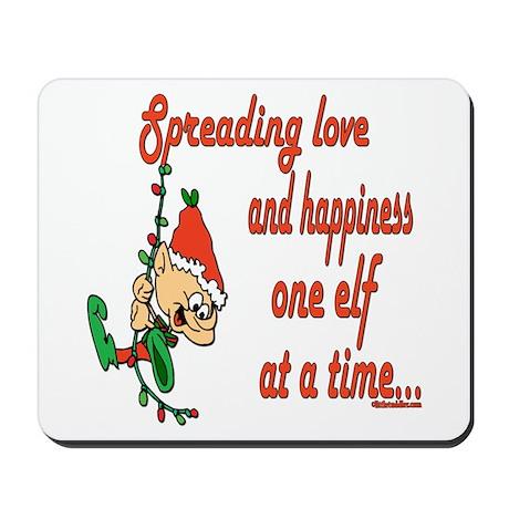 Spreading Love Elves Mousepad