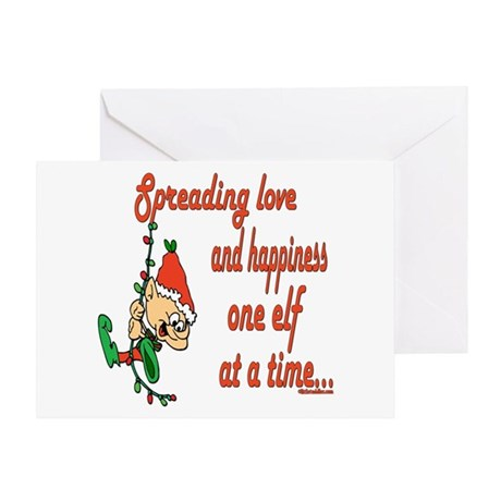 Spreading Love Elves Greeting Card