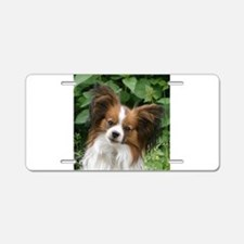papillon Aluminum License Plate