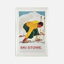 Ski Stowe Vermont Magnets