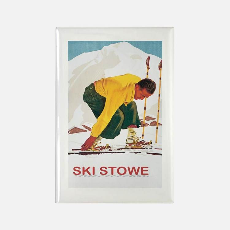 Ski Stowe Vermont Magnets