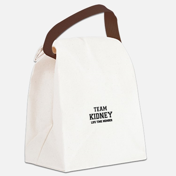 Team KIDNEY, life time member Canvas Lunch Bag