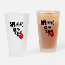 Ziplining Drinking Glass