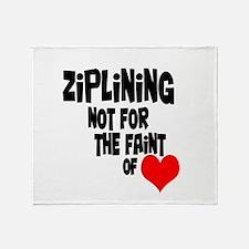 Ziplining Throw Blanket