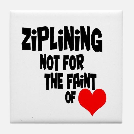 Ziplining Tile Coaster