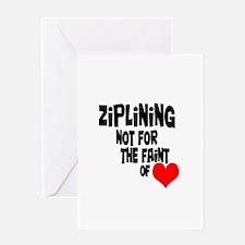 Ziplining Greeting Card