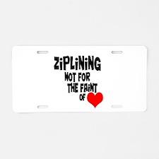 Ziplining Aluminum License Plate